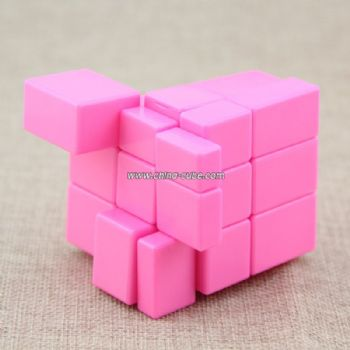 Shengshou Mirror 3x3x3 Level Magic Cube Puzzle Speed Cube Kids Educational Toys - Pink