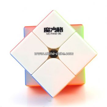 QiYi WuXia 2x2x2 Magnetic Stickerless Speed Cube - Colorful