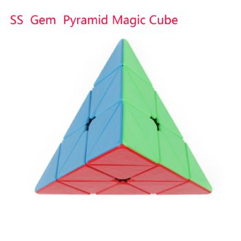 Shengshou GEM  pyramid Magic Cube Puzzle Toys for Challenge - Colorful