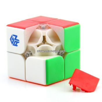 GAN249 V2 M 2x2 Magnetic Version Stickerless Speed Cube Puzzle - Colorful