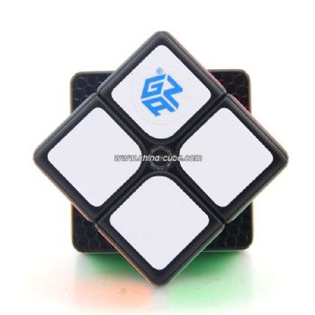 GAN249 V2 M 2x2 Magnetic Version Black Speed Cube Puzzle - Colorful
