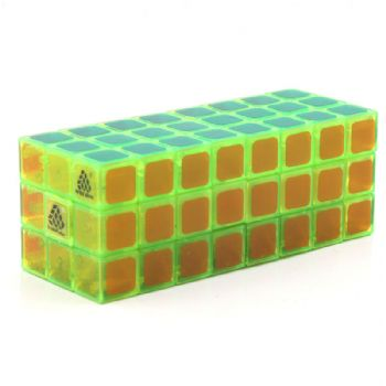 Witeden 1688Cube 3x3x8 立方体魔方(中心对称),1688Cube 3x3x8 Cuboid Cube(Symmetric) Transparent green collection